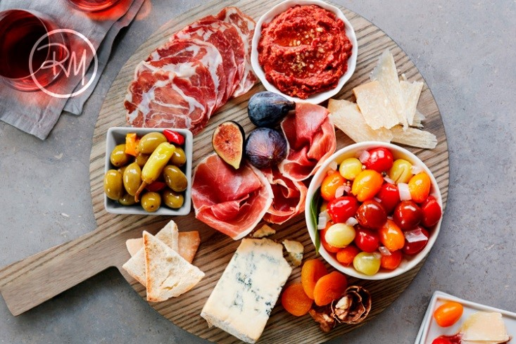 Angel Sweet Tomatoes and Prosciutto Charcuterie Board