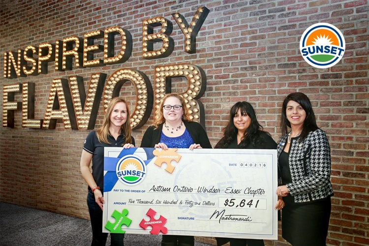 SUNSET® Donates to Autism Ontario