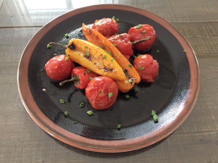 roasted peppers and tomatoes